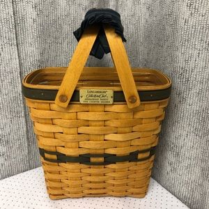 Longaberger Basket with Protector and Handle Cover